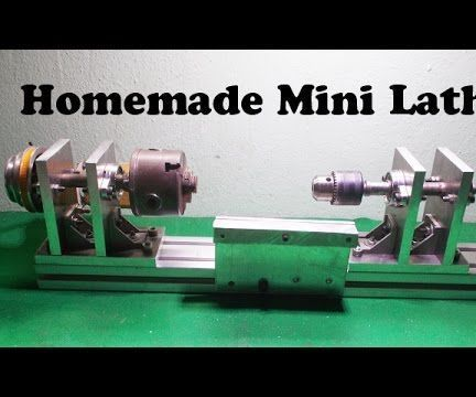 Homemade mini Lathe by Aluminium Alloy