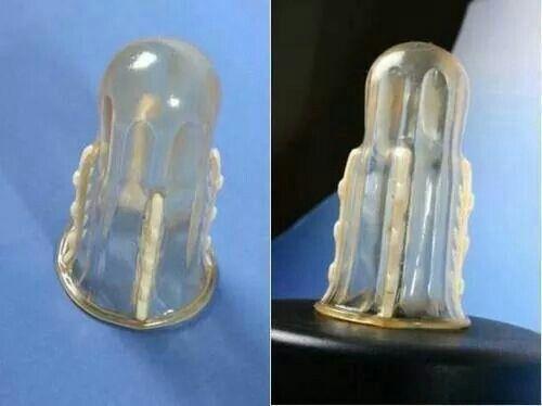 Anti Rape device...has barb on the inside.