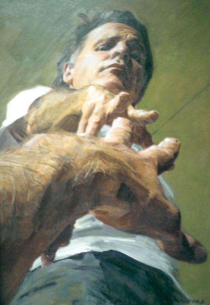 Robert Hannaford (1944 - ) | Self-portrait-3x2-1990