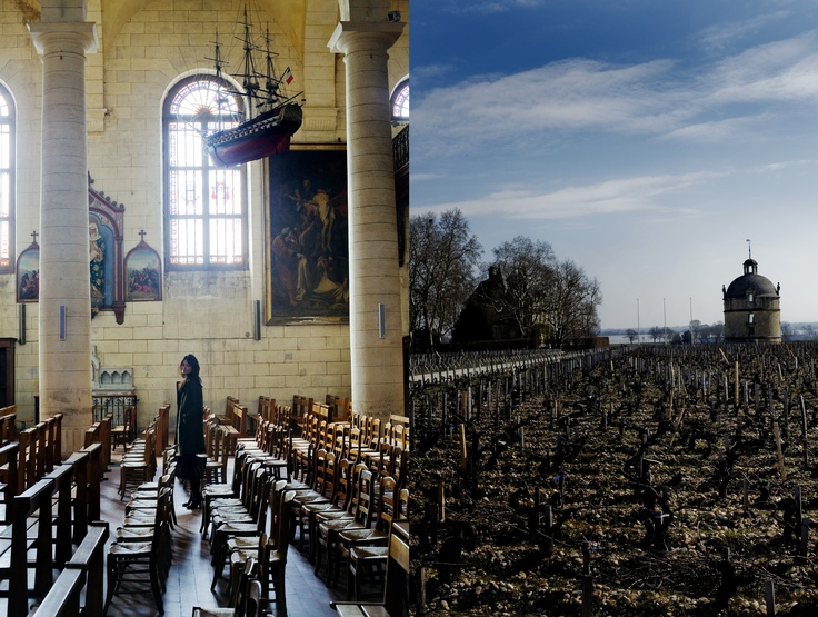 The charms of Pauillac - Château Latour and the local church.