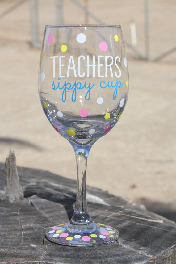 Extra large Teacher sippy cup Wine Glass Teacher by JcDezigns