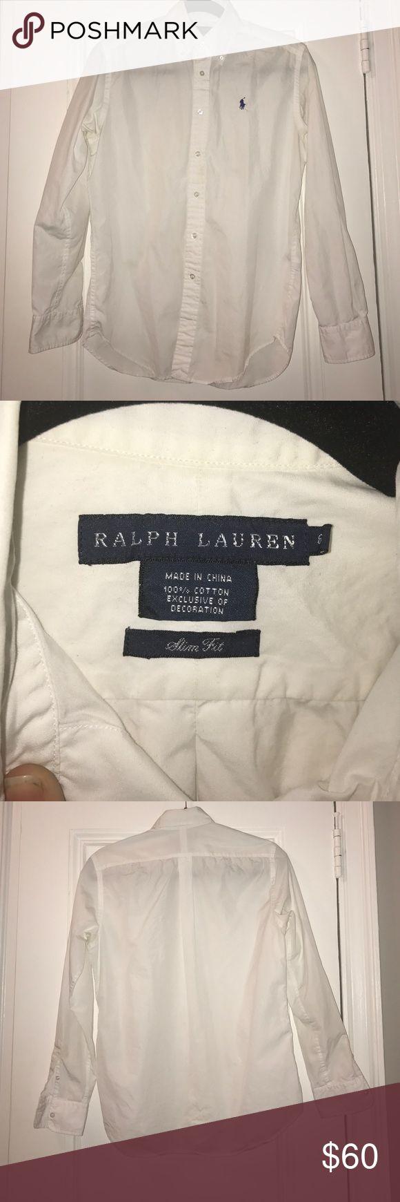 Ralph Lauren white Slim Fit button down shirt Ralph Lauren white Slim Fit button down shirt Ralph Lauren Tops Button Down Shirts