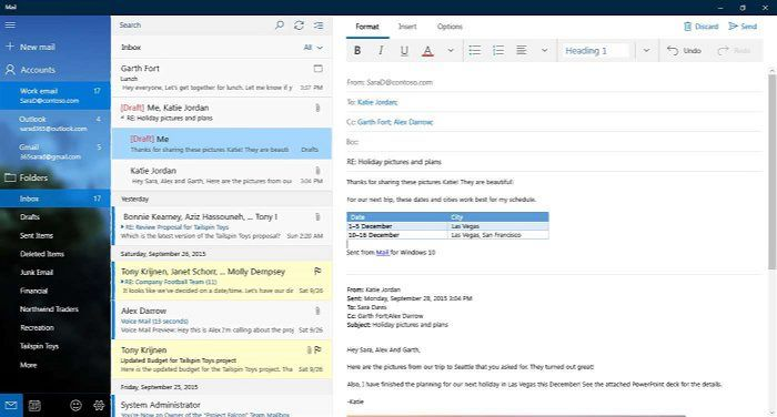 Outlook Mail adds interactive notifications for Windows 10 users
