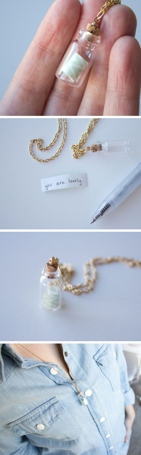 DIY Message in a Bottle Necklace | DIY Mothers Day Gifts from Daughter...