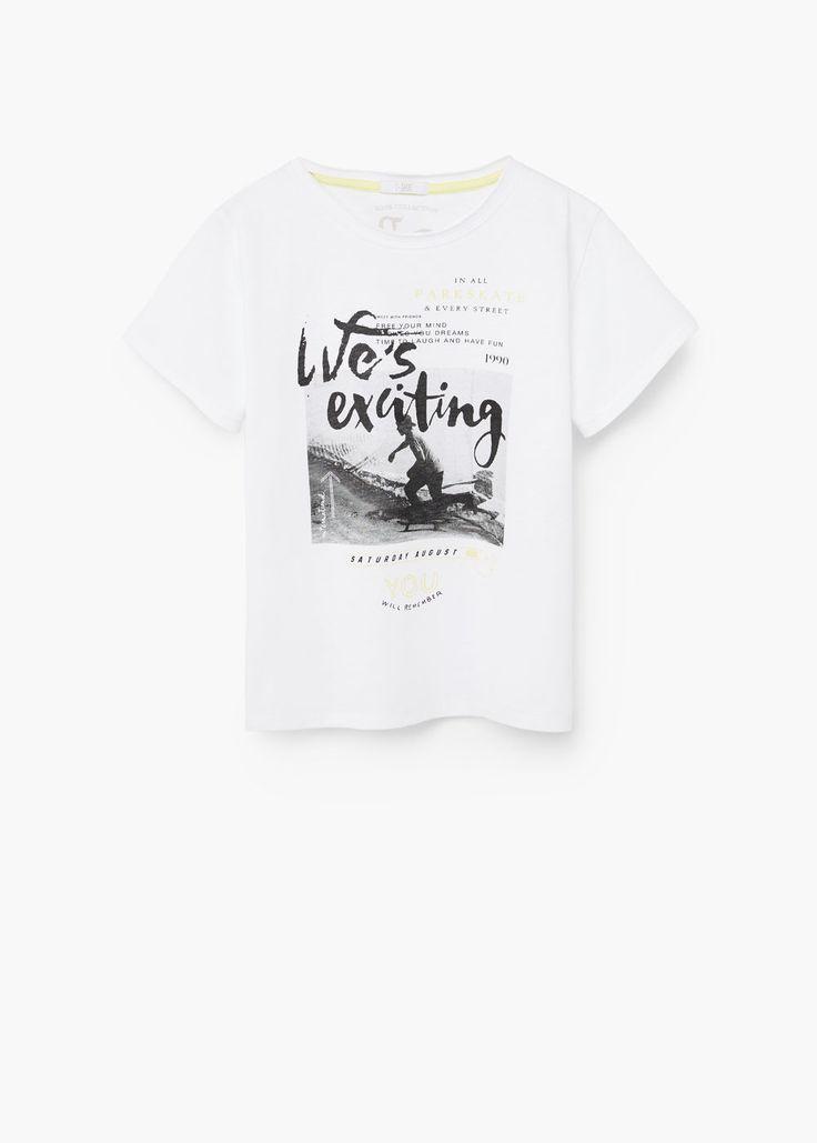 Printed cotton t-shirt   MANGO KIDS