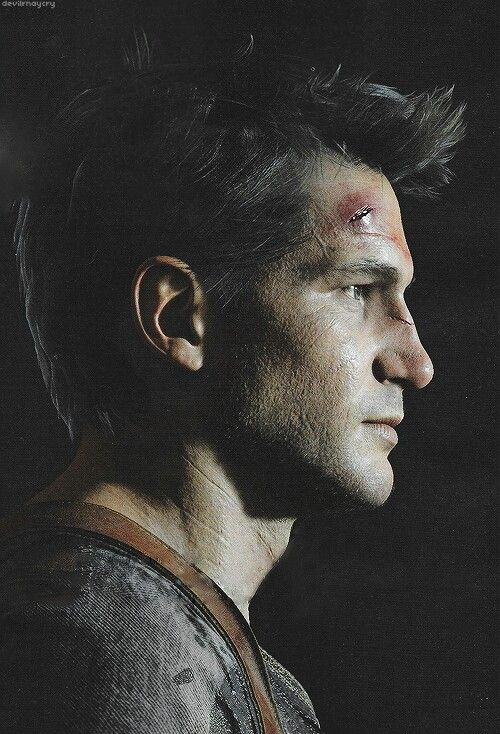 Nathan Drake : Uncharted 4  I realise he's a computer based image but he has to be THE most attractive game character I've come across
