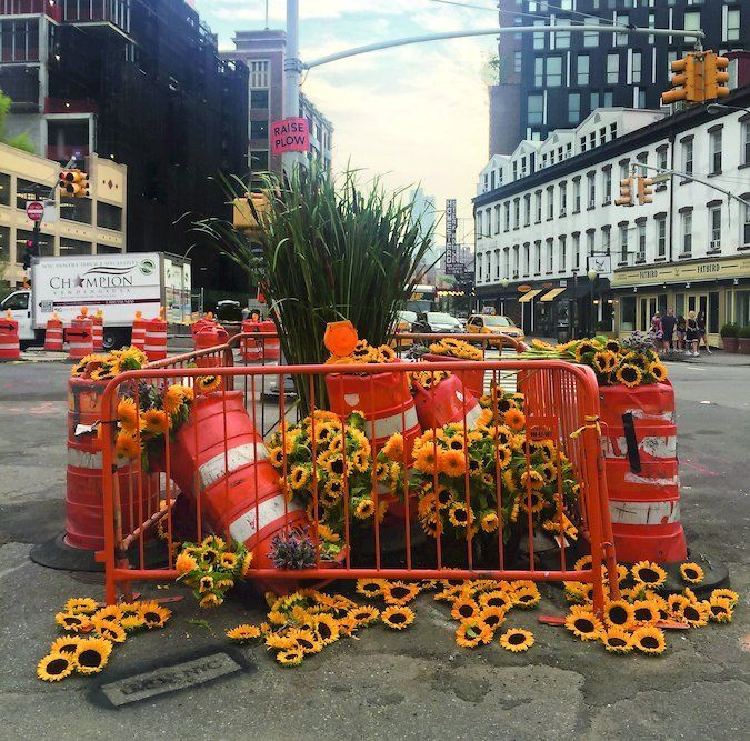 Guerrilla Flower Installations That Don't Last Long at All - The New York Times