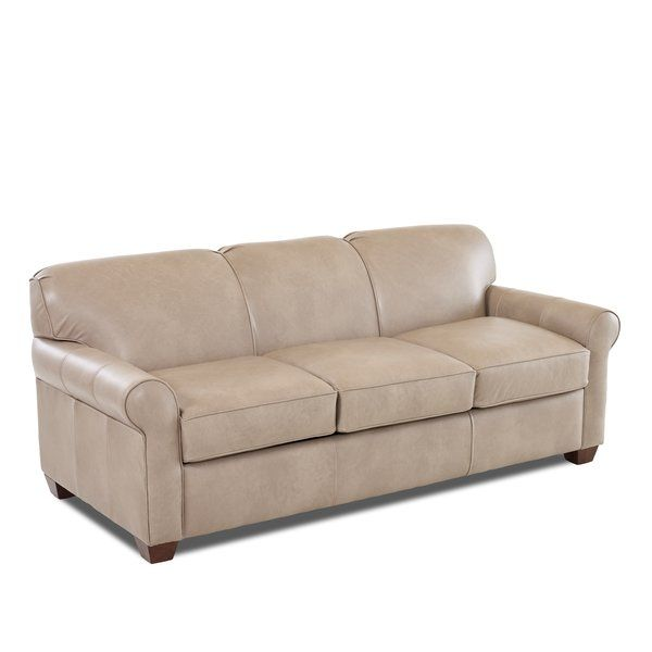 Jennifer Leather 81 Rolled Arms Sofa Bed Leather Sleeper Sofa Wayfair Custom Upholstery Rolled Arm Sofa