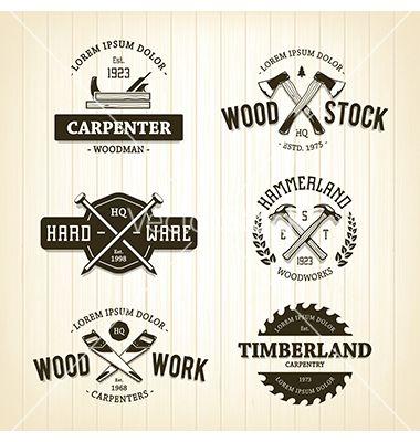 Carpentry Emblems Logos Vector By Morys On Vectorstock Tools Logo