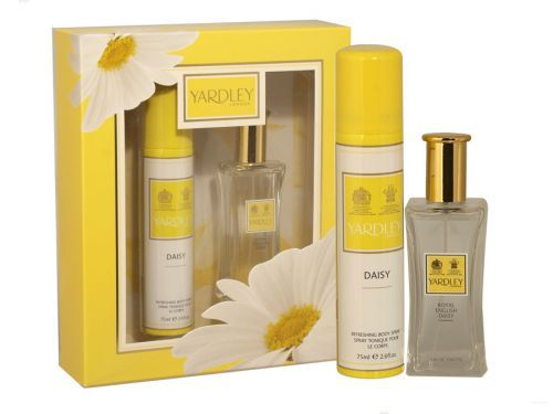 Yardley english daisy 2 piece body spray & edt gift set