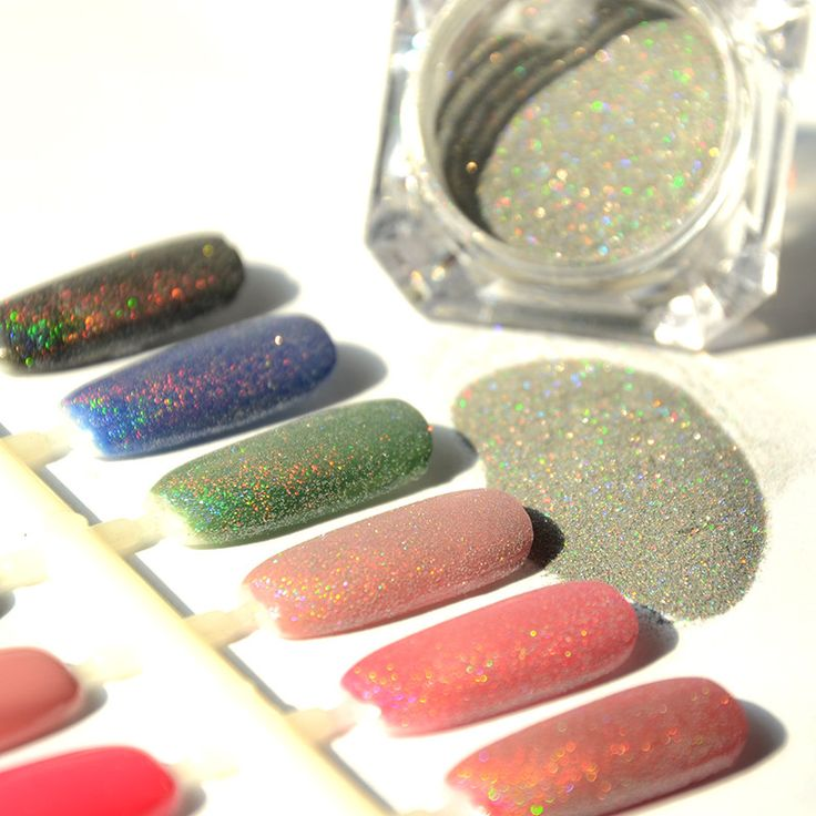 2g/Box Hot New Rainbow Holographic Silver Nail Powder Laser Chrome Nail Glitter for Beautiful Nail Art Decorations [Affiliate]