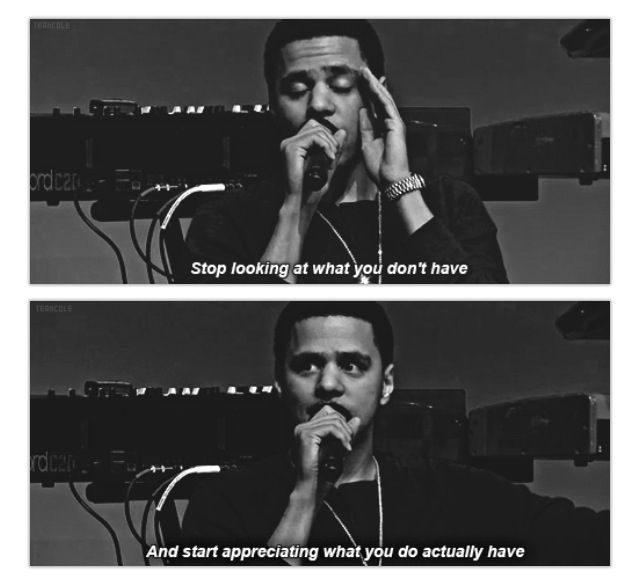 This is why I love j Cole.. =) <3