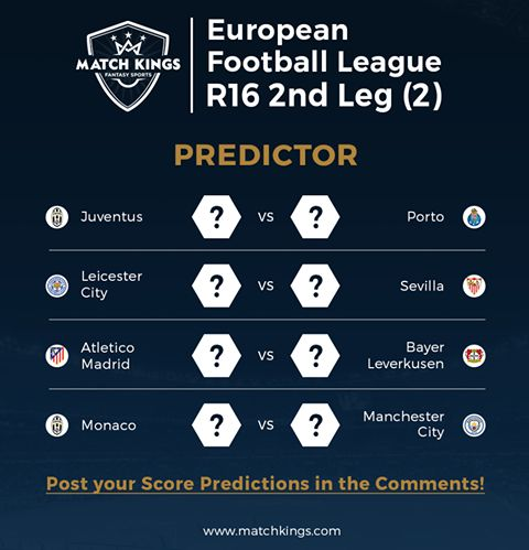 Let's put your football instincts to the test! Predict the 2nd Leg scores and post them in the comments! #MatchKhelo #UCL #pl #fpl #fantasysoccer #soccer #fantasyfootball #football #fantasysports #sports #fplindia #fantasyfootballindia #sportsgames #gamers  #stats  #fantasy #MatchKings