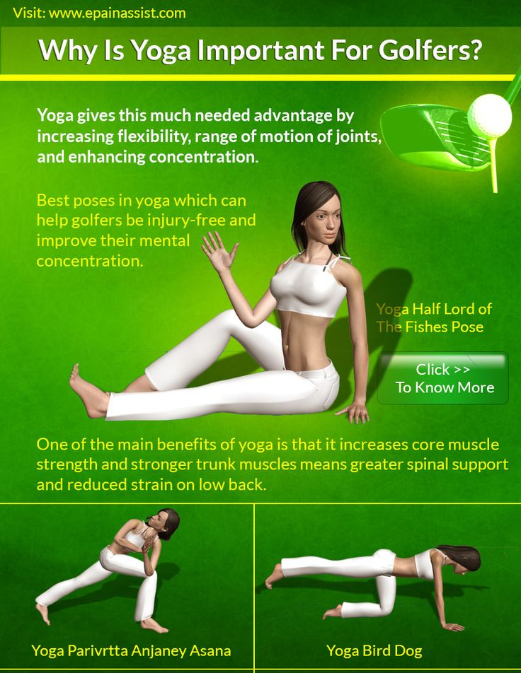 Yoga for Golfers- Given below are the best poses in yoga which will help golfers be injury free and improve their mental concentration- Revolved Crescent Lunge, Half Lord of The Fishes.