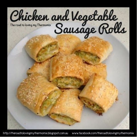 Chicken and Vegetable Sausage Rolls: Revisited