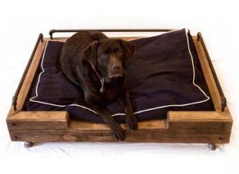 Cama para perros con palets muebles para mascotas - Camas con palets ...