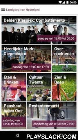 Twente App  Android App - playslack.com ,  Beleef Twente. Landgoed van Nederland Met de Twente App beleeft u Twente met haar prachtige coulisselandschap, sprankelende steden, culinaire verrassingen, rijke historie, kunst en cultuur, mysterieuze sagen en de topsportevenementen. Een streek vol verrassingen en vol mogelijkheden voor een heerlijke vakantie, een weekendje weg of een dagje uit. Je vindt er ware rust, in je hoofd en om je heen. Kwaliteit en stijl staan hoog in het vaandel en zorgen…