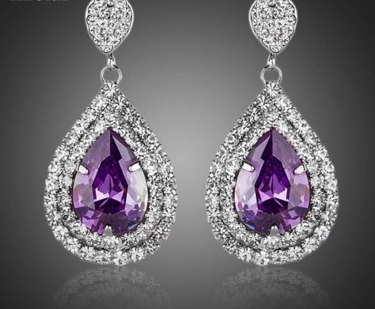 Purple tear earrings kod 654714