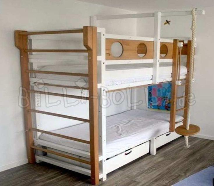 Etagenbett, Fichte, 90 x 200 cm, weiß lackiert (Etagenbett gebraucht)