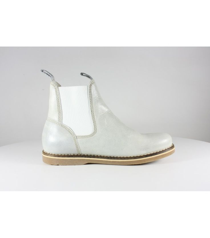 White Leather Chelsea Boots / 37 - WST.fi