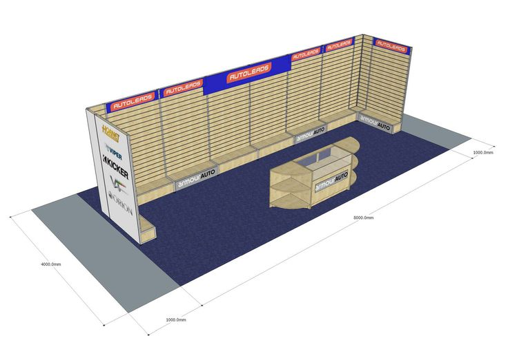 Slatwall Exhibition Stand