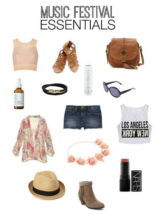 Music Festival Fashion and Beauty Items