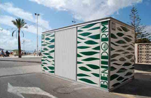 HABANA WC-Kiosk for Benidorm beach  | customizable modular kiosk #microarquitectura #kiosk