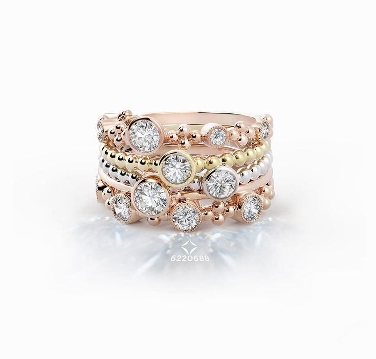 The Tribute Collection | Forevermark THIS is the kind of ring(s) I would LOVE to have #OneDay