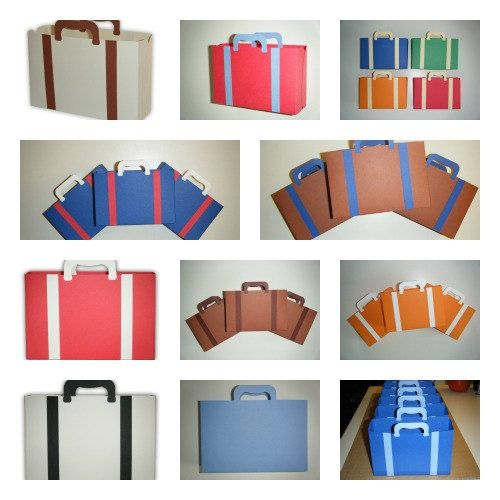 Large Suitcase Luggage Favor Printable Color by favormakers, $5.95
