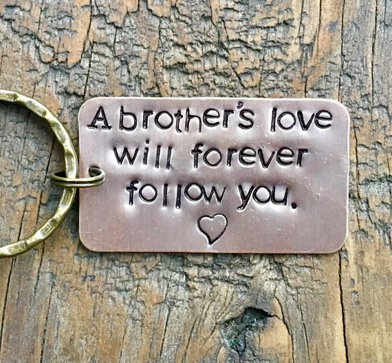 Key Chain for Brother Sister Sibling. Tribute to Brother. Loss