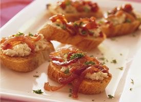 Caramelized-Onion Bruschetta! Looking for a new appetizer? Try an easy ...