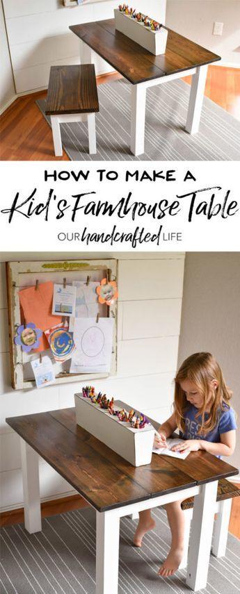 How to Make a DIY Farmhouse Kid's Table