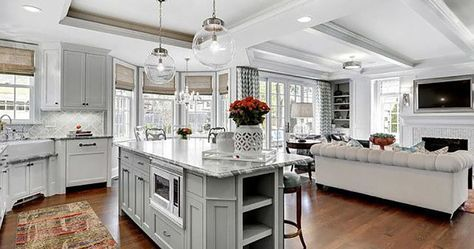 Learn how to Plan Ideas For A Combined Family Room / Kitchen. Fairfax Kitchen Bath is One Stop Kitchen and Bath Company located in Northern Virginia.