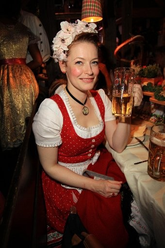 48 best local celebs in dirndl images on pinterest oktoberfest bavaria and leather joggers