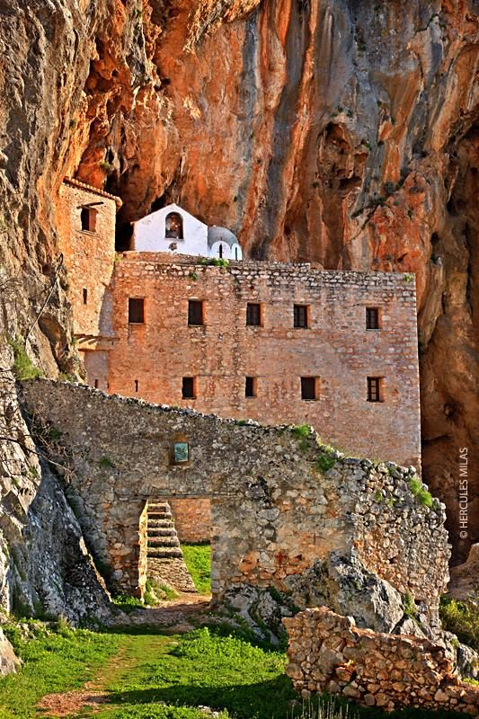 "This is my Greece | Agios Dimitrios monastery (""Avgo""), 11th or 12th century, one of the most beautiful monasteries, Municipality of Ermionida, Argolida, Peloponnese"