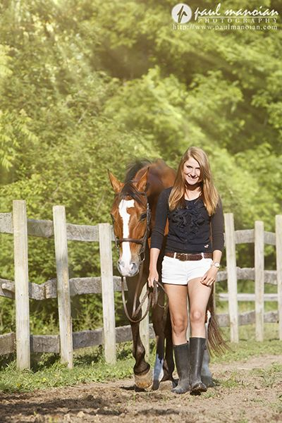 Senior Pictures with Horses in Michigan