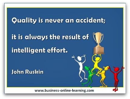 What a wonderful Quote from John Ruskin on the topic of using your intelligence to make Quality Happen!  I have added this to my article on Quality Circles as I found it very apt!