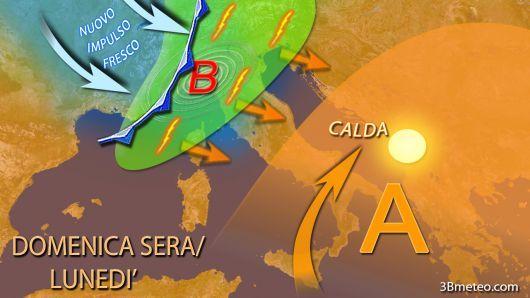 Sereno e caldo fino a Domenica sera/Lunedì, poi incursione atlantica #meteo #previsionideltempo
