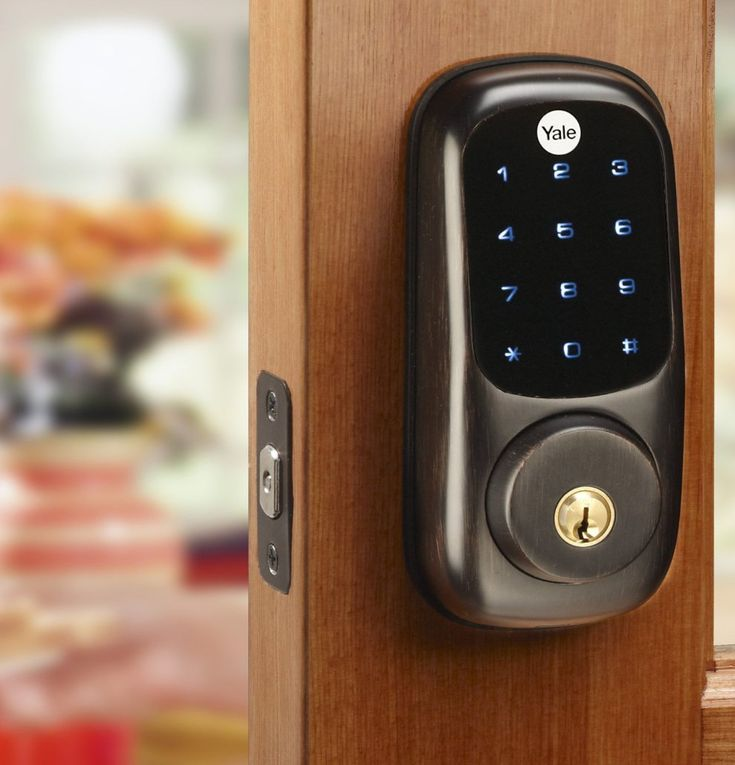 We install Yale electronic touch screen keyless locks. http://suolocksmithmarkham.com/keyless-door-locks/