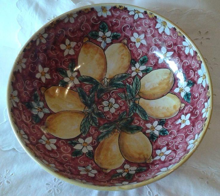 Ciotola / Spaghettiera / Insalatiera in ceramica dipinta a mano.Dec Limoni,25,00 € su misshobby.com