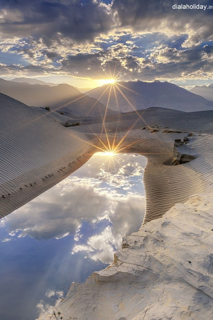 An awesome view of sunrise, the #catching #light at #Ladakh   #Book now the #Heaven on earth & best place for #honeymoon in #India #travel #dialaholiday