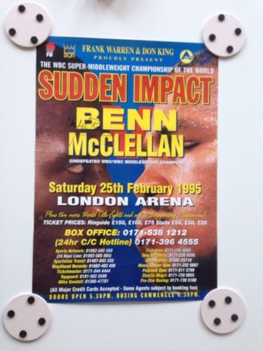 Nigel benn v #gerald #mcclellan #official fight poster - signed by benn (rare),  View more on the LINK: http://www.zeppy.io/product/gb/2/191728844234/