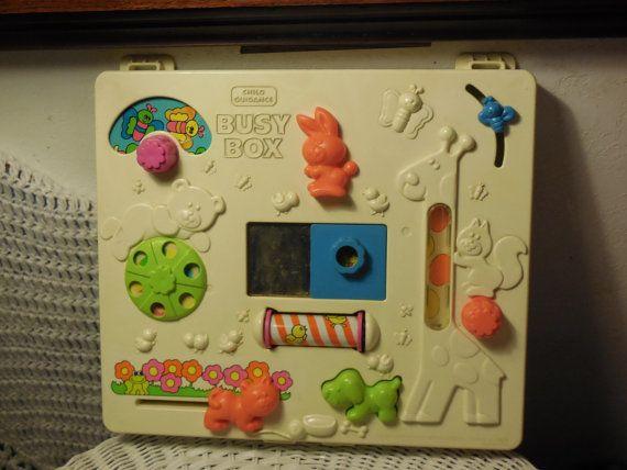 Child Guidance Busy Box Crib Toy by Daysgonebytreasures on Etsy, $18.00https://www.etsy.com/listing/185481363/child-guidance-busy-box-crib-toy