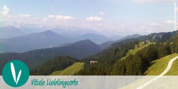 VITALER LIEBLINGSORT:  Diesen erholsamen Blick auf die Alpen haben wir im Kurort Bad Griesbach - Bayerisches Bäderdreieck - aufgenommen.