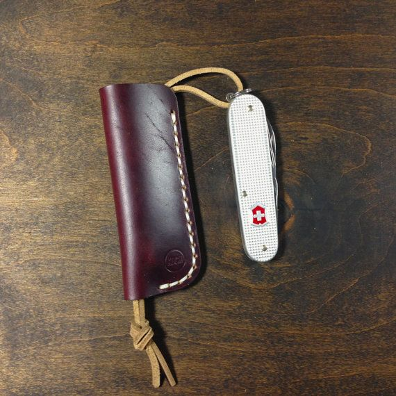 Burgundy Horween Leather Sleeve for Cadet Swiss by KochLeather