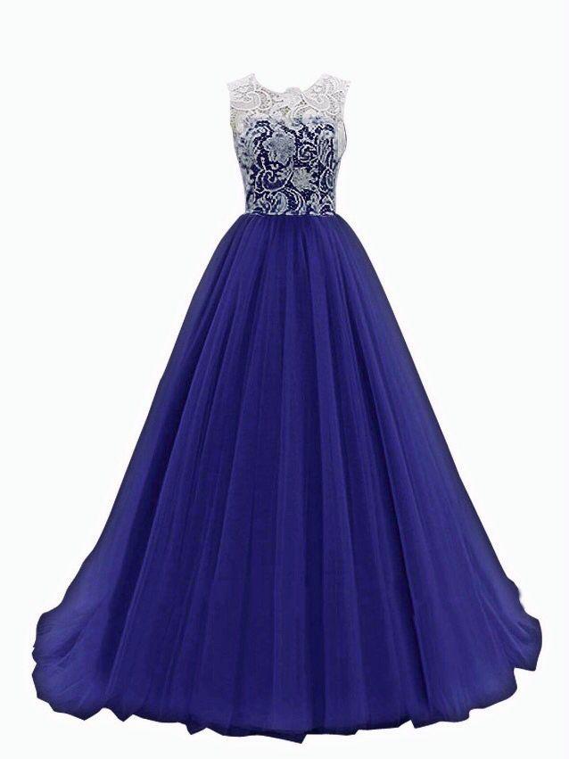 Dresstells® Women's Long Tulle Prom Dress Dance Gown with Lace Navy Size 10 https://www.amazon.com/dp/B00R7IJ4K0/ref=cm_sw_r_awd_zCNnvb0XJ80QE