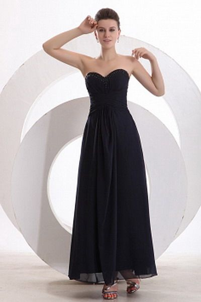 Chiffon Blue Classic Bridesmaids Gown - Order Link: http://www.thebridalgowns.com/chiffon-blue-classic-bridesmaids-gown-tbg2983 - SILHOUETTE: A-Line; SLEEVE: Sleeveless; LENGTH: Ankle Length; FABRIC: Chiffon; EMBELLISHMENTS: Pleating - Price: 96USD