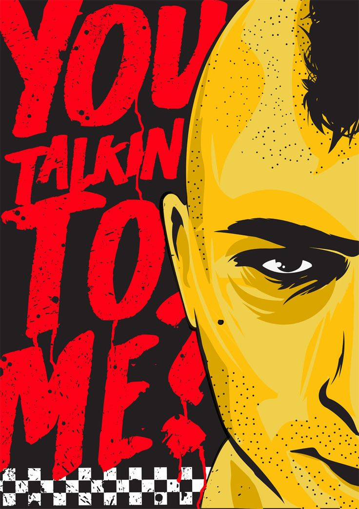 Alternative taxi driver you talkin to me travis quote poster classic film art…