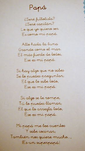 Poesía Papá