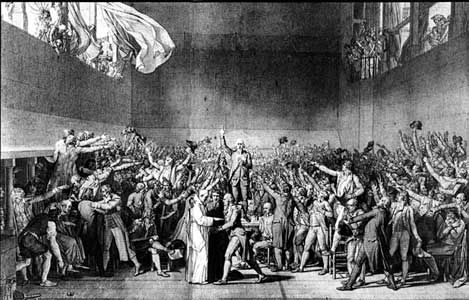The Tennis Court Oath- was a pivotal event during the first days ...